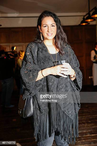 Minu BaratiFischer attends the J Brand Cocktail Party At Soho House Berlin on January 18 2015 in Berlin Germany
