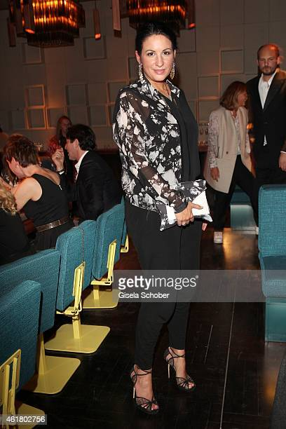 Minu BaratiFischer attends the LaLa Berlin Dinner with Cinderella during the MercedesBenz Fashion Week Berlin Autumn/Winter 2015/16 at Crackers on...