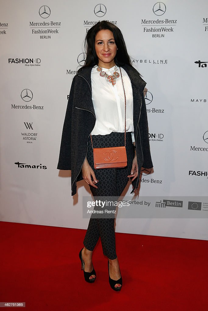 Minu Barati-Fischer attends the Minx by Eva Lutz show during Mercedes-Benz Fashion Week Autumn/Winter 2014/15 at Brandenburg Gate on January 15, 2014 in Berlin, Germany.