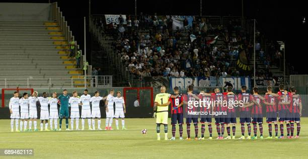 Minute of silent in memory of the referee Stefano Farina prior the Serie A match between FC Crotone and SS Lazio at Stadio Comunale Ezio Scida on May...