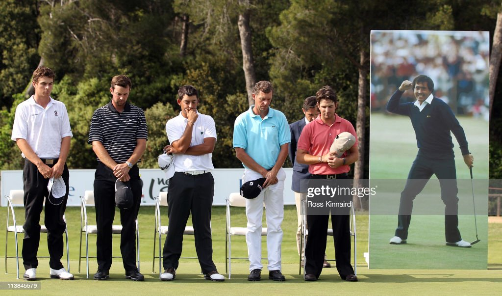 A minute silence was held in memory of Seve Ballestros during the prize giving ceramony during the final round of the Open de Espana at the Real Club...