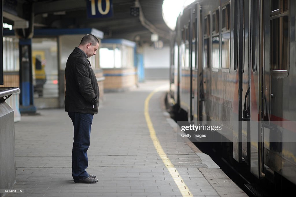 A minute's silence is observed at Brussel-Zuid station following a coach crash which killed 28 people March 16, 2012 in Brussels, Belgium. The accident occurred when a school bus carrying 11 -12 year olds, returning from a skiing holiday, crashed into a tunnel wall, killing 28 of the 52 passengers.