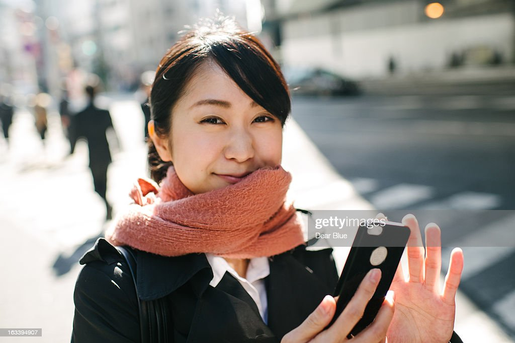 Mioko, before kicking some butt at an interview. # : Stock Photo