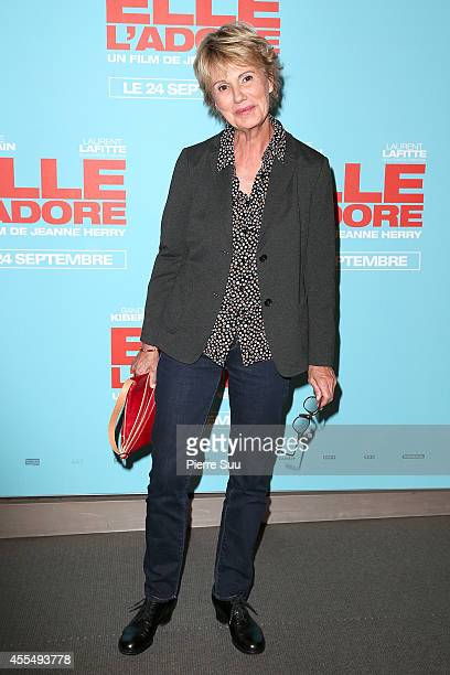 Miou Miou attends the 'Elle Adore' Paris Premiere at Cinema UGC Normandie on September 15 2014 in Paris France
