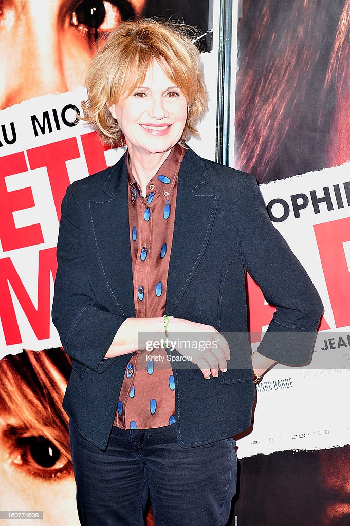Miou-Miou attends the 'Arretez Moi' Paris Premiere at the UGC Cine Cite des Halles on February 5, 2013 in Paris, France.