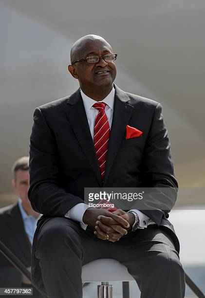 Miquel Southwell aviation director of HartsfieldJackson Atlanta International Airport looks on during a news conference at HartsfieldJackson Atlanta...