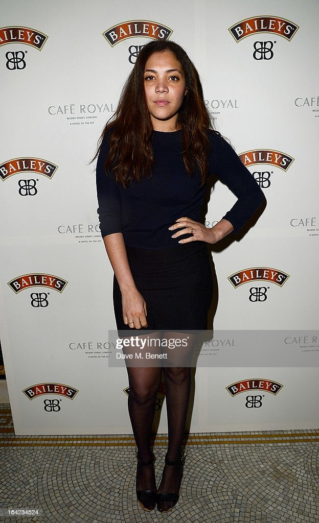 Miquita Oliver arrives at the launch of Baileys new sleek bottle design at the Cafe Royal hotel on March 21, 2013 in London, England.