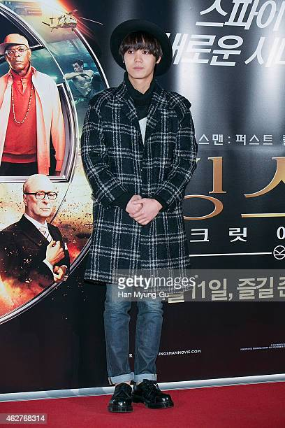 Mir of South Korean boy band MBLAQ attends the photo call for the South Korean premiere of 'Kingsman The Secret Service' at COEX Mega Box on February...