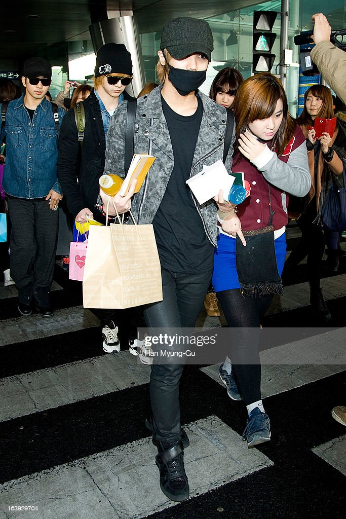 Mir of South Korean boy MBLAQ is seen upon arrival at Incheon International Airport on March 17, 2013 in Incheon, South Korea.