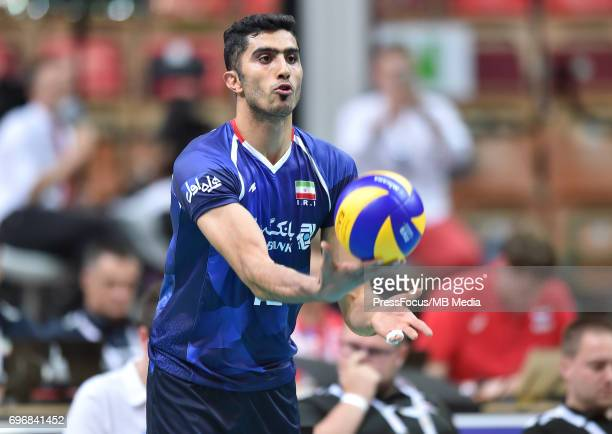 Mir Saeid Marouflakrani during the FIVB World League 2017 match between Iran and USA at Arena Spodek on June 15 2017 in Katowice Poland
