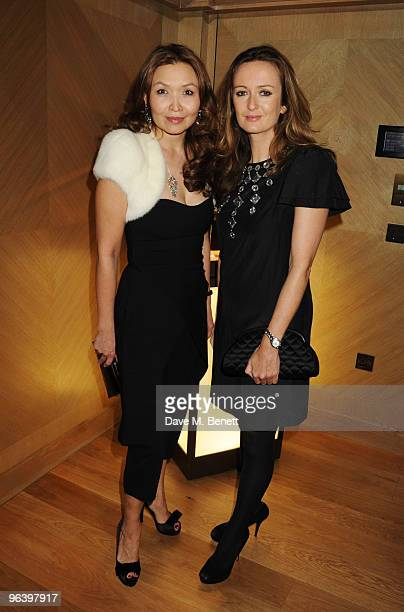 Mira Anafina and Lucy Yeomans attend the Damiani Jewellery party at The Connaught Hotel on February 3 2010 in London England
