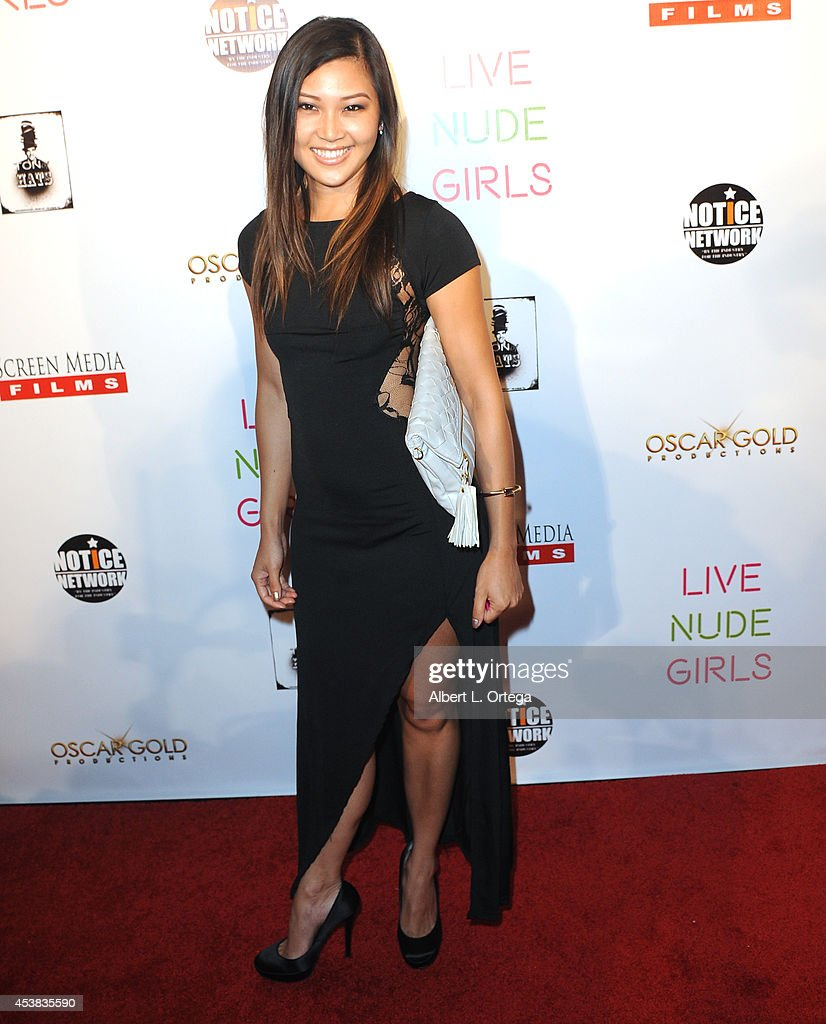 Mira Carr arrives at the premiere of 'Live Nude Girls' held at Avalon on August 12, 2014 in Hollywood, California.
