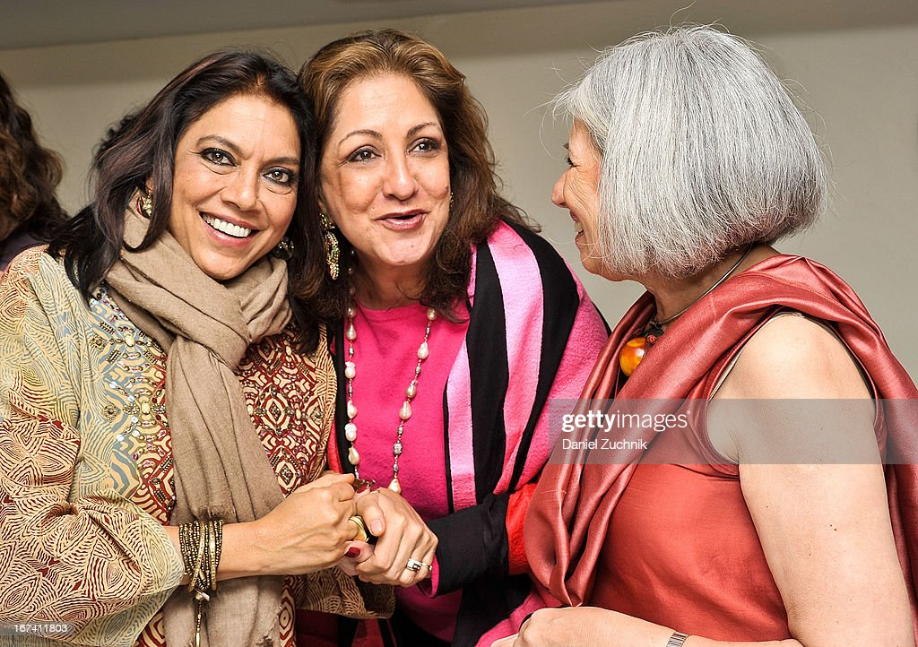 Mira Nair(L) and Aroon Shivdasani(R) attend the after party following 'The Reluctant Fundamentalist' screening during the 2013 New York Indian Film Festival at Yuva on April 24, 2013 in New York City.