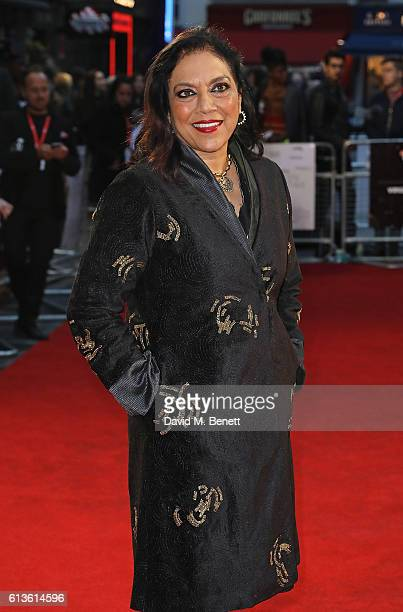 Mira Nair attends the 'Queen Of Katwe' Virgin Atlantic Gala screening during the 60th BFI London Film Festival at Odeon Leicester Square on October 9...