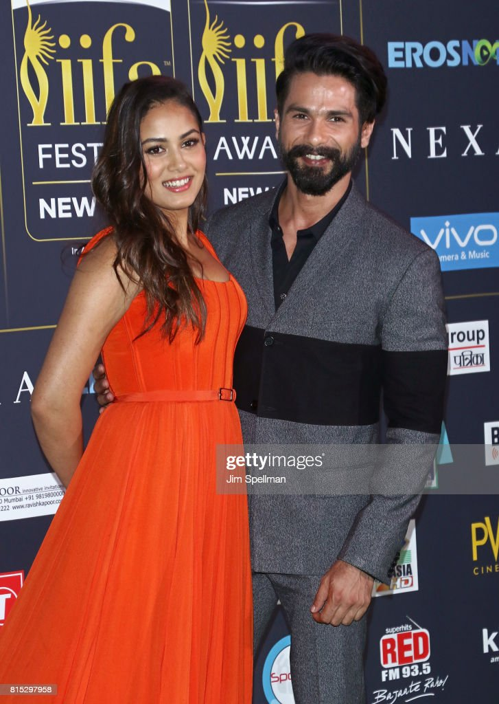 Mira Rajput and actor Shahid Kapoor attend the 2017 International Indian Film Academy Festival at MetLife Stadium on July 14, 2017 in East Rutherford, New Jersey.