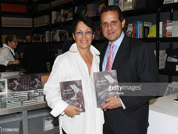 Mira Rubell and Miami Mayor Manny Diaz attend the Rubell Family Collection during Art Basel Miami December 6 2007 in Miami Florida