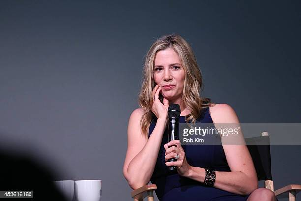 Mira Sorvino attends Meet the Actor at the Apple Store Soho on August 14 2014 in New York City