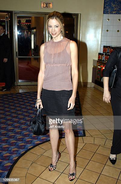 Mira Sorvino during Confessions of a Dangerous Mind Premiere at Mann Bruin Theatre in Westwood California United States