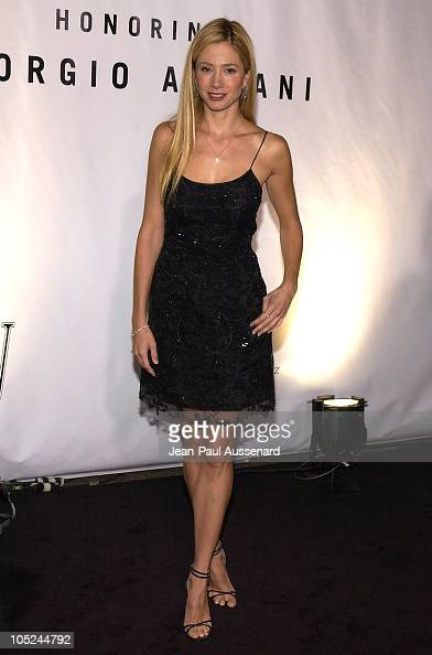 Mira Sorvino during Giorgio Armani Receives First 'Rodeo Drive Walk Of Style' Award at Rodeo Drive in Beverly Hills California United States
