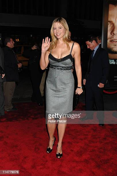 Mira Sorvino during 'The Departed' New York City Premiere at Ziegfeld Theater in New York City New York United States