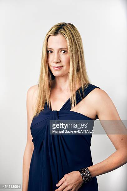 Mira Sorvino poses for a portrait at the BAFTA luncheon on August 23 2014 in Los Angeles California