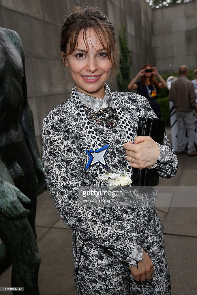Mira Tander attends the Schumacher After Show Party at Brandenburg Gate on July 4, 2013 in Berlin, Germany.