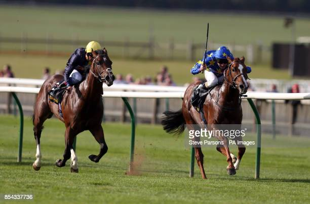 Miracle of Medinah ridden by Liam Keniry wins the Somerville Tattersall Stakes during day one of the 2013 Cambridgeshire Meeting at Newmarket...