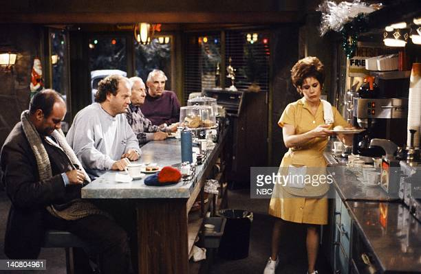 FRASIER 'MIracle on Third or Fourth Street' Episode 12 Pictured John Finn as Tim Kelsey Grammer as Doctor Frasier Crane Christine Estabrook as Lou...