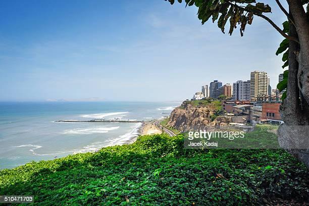 Miraflores beach landscapes in Lima ,Peru