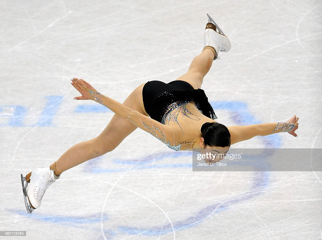 <a gi-track='captionPersonalityLinkClicked' href=/galleries/search?phrase=Mirai+Nagasu&family=editorial&specificpeople=4125421 ng-click='$event.stopPropagation()'>Mirai Nagasu</a> competes in the Championship Ladies Free Skate Program Competition during day 3 of the 2015 Prudential U.S. Figure Skating Championships at Greensboro Coliseum on January 24, 2015 in Greensboro, North Carolina.