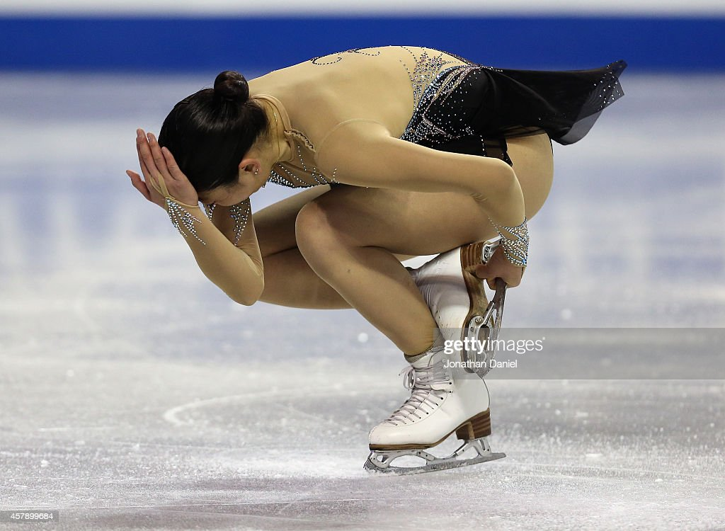 <a gi-track='captionPersonalityLinkClicked' href=/galleries/search?phrase=Mirai+Nagasu&family=editorial&specificpeople=4125421 ng-click='$event.stopPropagation()'>Mirai Nagasu</a> competes in the Ladies Free Skating during the 2014 Hilton HHonors Skate America competition at the Sears Centre Arena on October 26, 2014 in Hoffman Estates, Illinois.