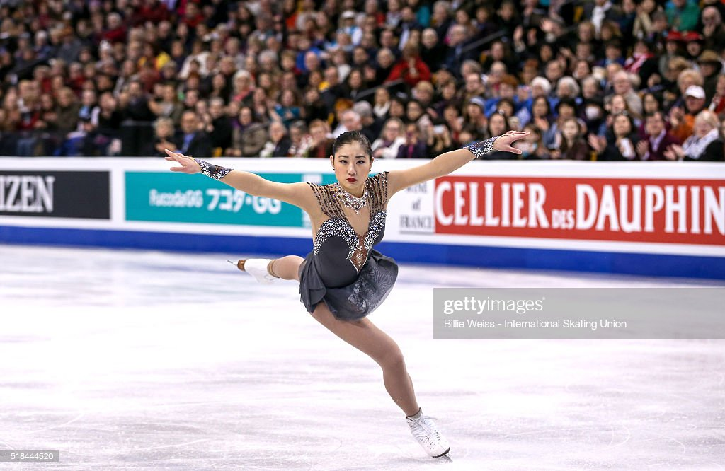 <a gi-track='captionPersonalityLinkClicked' href=/galleries/search?phrase=Mirai+Nagasu&family=editorial&specificpeople=4125421 ng-click='$event.stopPropagation()'>Mirai Nagasu</a> of the United States competes during Day 4 of the ISU World Figure Skating Championships 2016 at TD Garden on March 31, 2016 in Boston, Massachusetts.