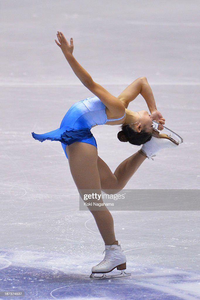 <a gi-track='captionPersonalityLinkClicked' href=/galleries/search?phrase=Mirai+Nagasu&family=editorial&specificpeople=4125421 ng-click='$event.stopPropagation()'>Mirai Nagasu</a> of the United States competes in the women's short program during day one of ISU Grand Prix of Figure Skating 2013/2014 NHK Trophy at Yoyogi National Gymnasium on November 8, 2013 in Tokyo, Japan.