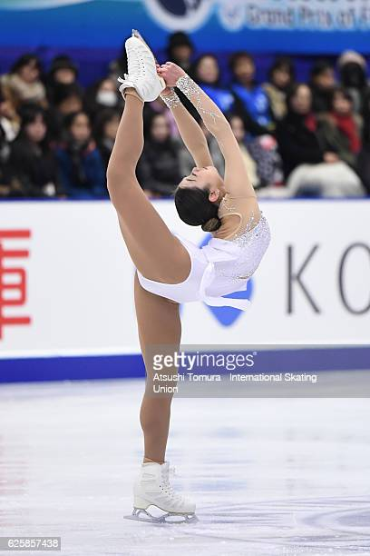 Mirai Nagasu of the USA competes in the Ladies free skating during the ISU Grand Prix of Figure Skating NHK Trophy on November 26 2016 in Sapporo...