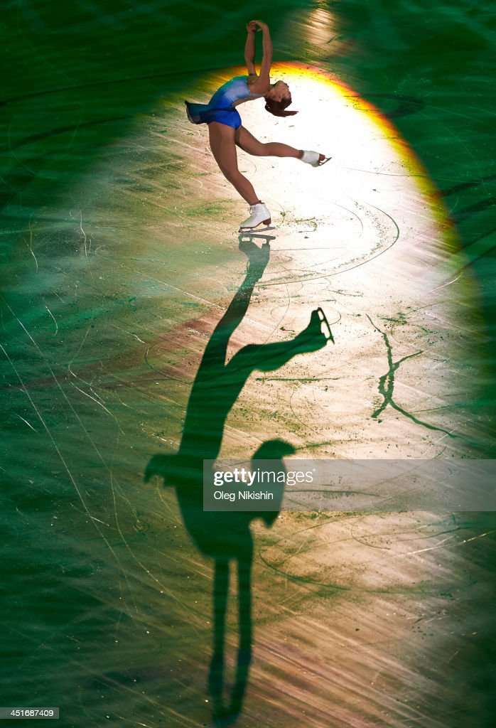 <a gi-track='captionPersonalityLinkClicked' href=/galleries/search?phrase=Mirai+Nagasu&family=editorial&specificpeople=4125421 ng-click='$event.stopPropagation()'>Mirai Nagasu</a> of United States during the Gala Exhibition during ISU Rostelecom Cup of Figure Skating 2013 on November 24, 2013 in Moscow, Russia.