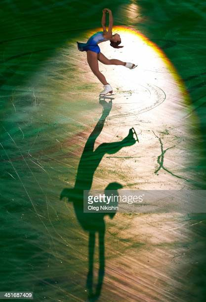 Mirai Nagasu of United States during the Gala Exhibition during ISU Rostelecom Cup of Figure Skating 2013 on November 24 2013 in Moscow Russia