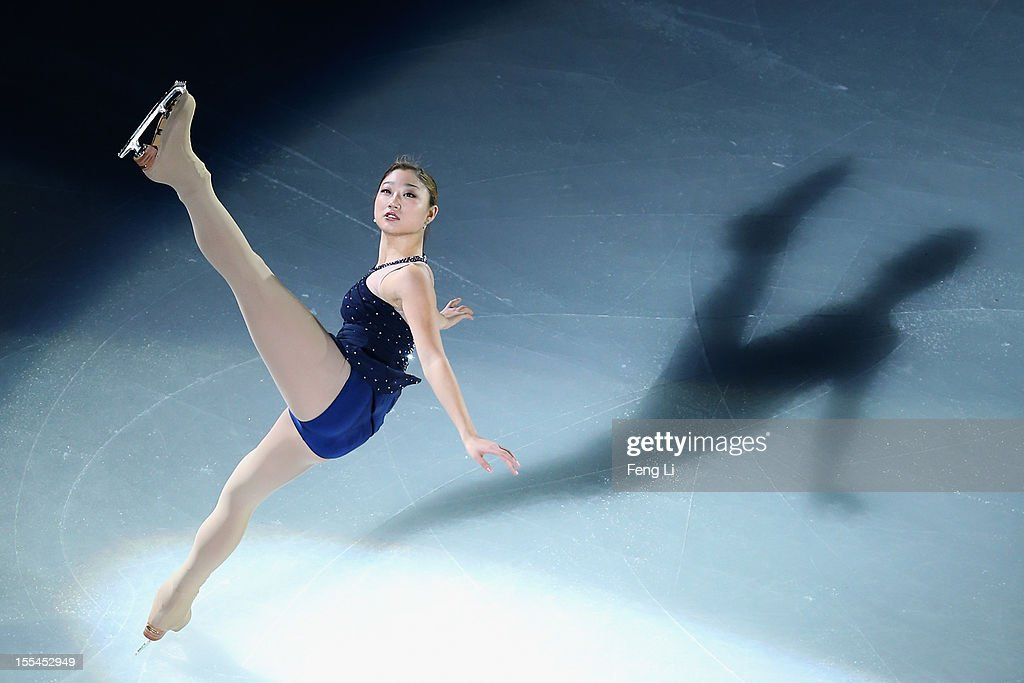 <a gi-track='captionPersonalityLinkClicked' href=/galleries/search?phrase=Mirai+Nagasu&family=editorial&specificpeople=4125421 ng-click='$event.stopPropagation()'>Mirai Nagasu</a> of United States performs during Cup of China ISU Grand Prix of Figure Skating 2012 at the Oriental Sports Center on November 4, 2012 in Shanghai, China.
