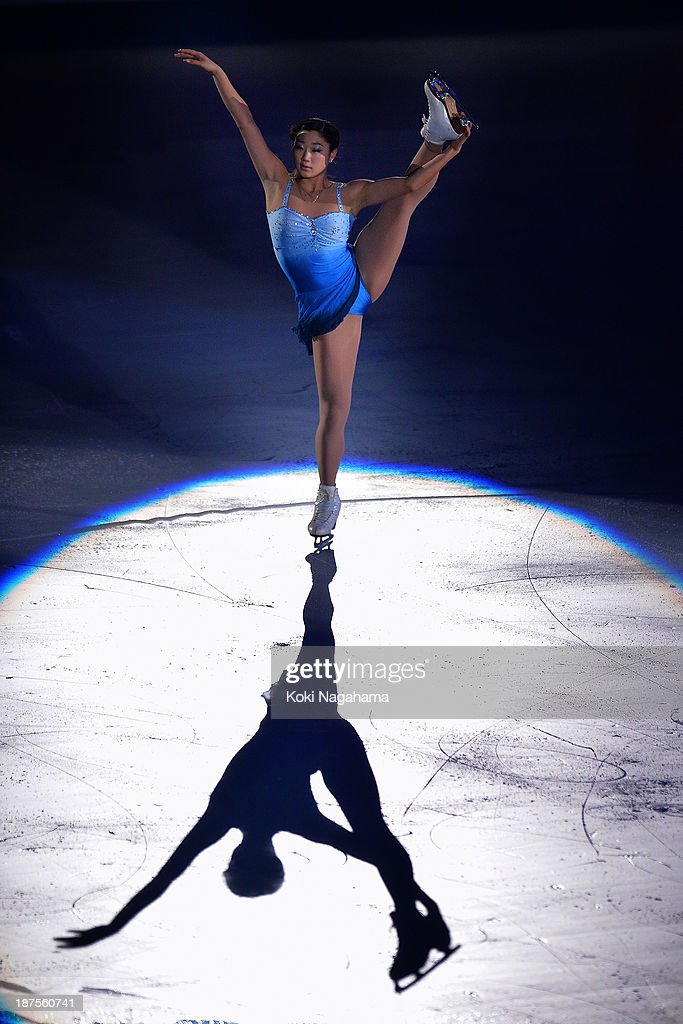 <a gi-track='captionPersonalityLinkClicked' href=/galleries/search?phrase=Mirai+Nagasu&family=editorial&specificpeople=4125421 ng-click='$event.stopPropagation()'>Mirai Nagasu</a> of United States performs in the Gala Exhibition during day three of ISU Grand Prix of Figure Skating 2013/2014 NHK Trophy at the Yoyogi National Gymnasium on November 10, 2013 in Tokyo, Japan.