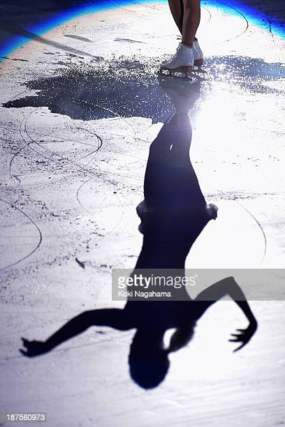 Mirai Nagasu of United States performs in the Gala Exhibition during day three of ISU Grand Prix of Figure Skating 2013/2014 NHK Trophy at the Yoyogi...