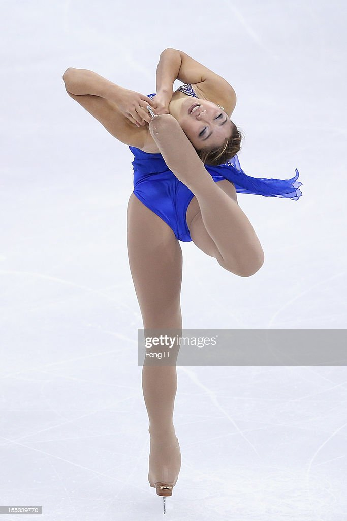 <a gi-track='captionPersonalityLinkClicked' href=/galleries/search?phrase=Mirai+Nagasu&family=editorial&specificpeople=4125421 ng-click='$event.stopPropagation()'>Mirai Nagasu</a> of United States skates in Ladies Free Skating during Cup of China ISU Grand Prix of Figure Skating 2012 at the Oriental Sports Center on November 3, 2012 in Shanghai, China.