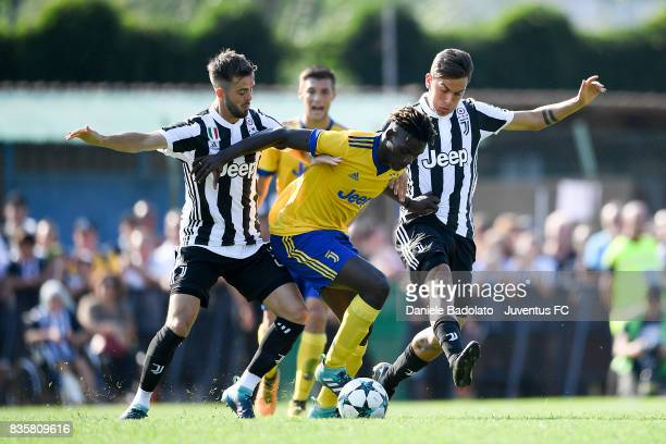 Miralem Pjanic and Paulo Dybala during the preseason friendly match between Juventus A and Juventus B on August 17 2017 in Villar Perosa Italy