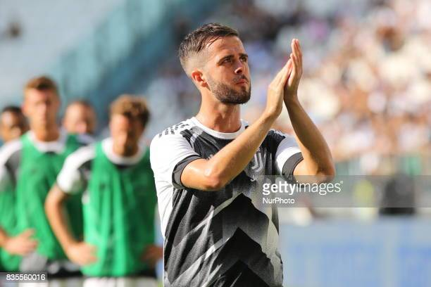 Miralem Pjanic before the Serie A football match between Juventus FC and Cagliari Calcio at Allianz Stadium on august 19 2017 in Turin Italy