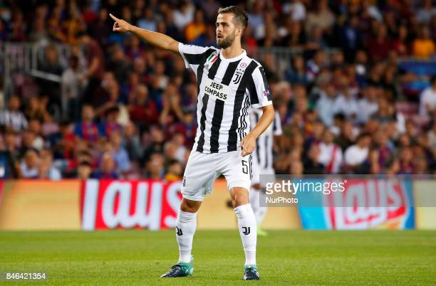 Miralem Pjanic during Champions League match between FC Barcelona v RCD Juventus in Barcelona on September 12 2017