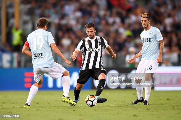 Miralem Pjanic during the Italian Supercup match between Juventus and SS Lazio at Stadio Olimpico on August 13 2017 in Rome Italy