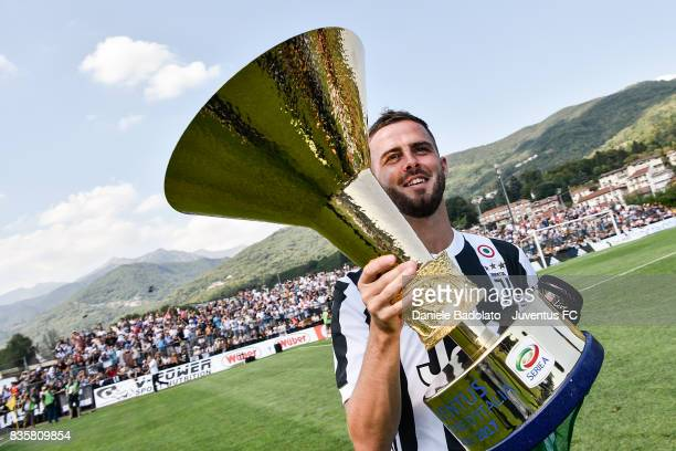 Miralem Pjanic during the preseason friendly match between Juventus A and Juventus B on August 17 2017 in Villar Perosa Italy