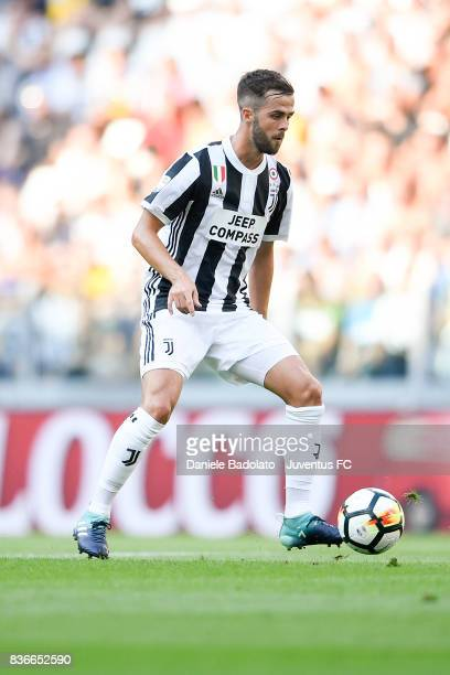Miralem Pjanic during the Serie A match between Juventus and Cagliari Calcio at Allianz Stadium on August 19 2017 in Turin Italy