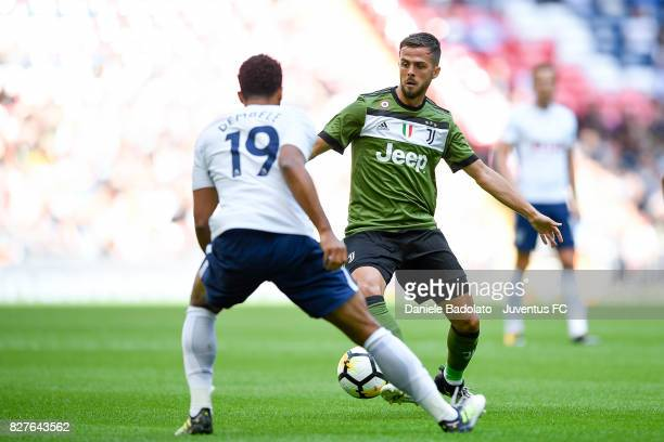 Miralem Pjanic during the Tottenham Hotspur v Juventus PreSeason Friendly match at Wembley Stadium on August 5 2017 in London England