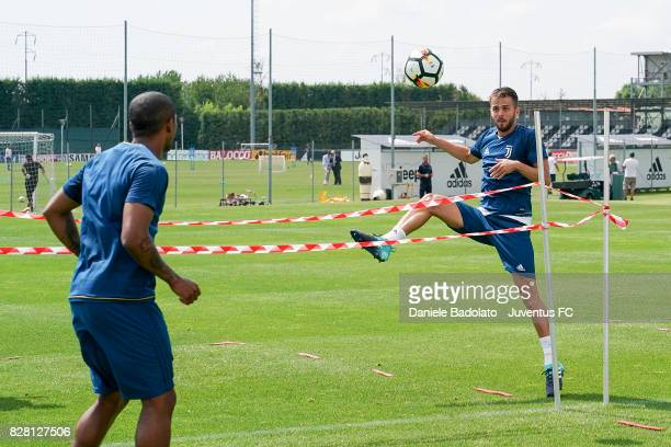 Miralem Pjanic of Juventus during a training session on August 9 2017 in Vinovo Italy