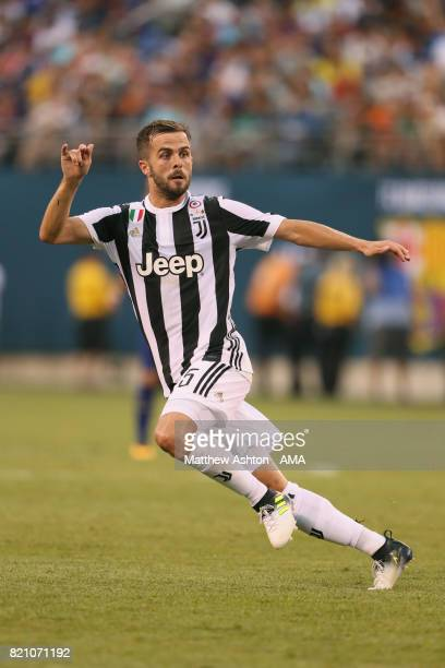 Miralem Pjanic of Juventus during the International Champions Cup 2017 match between Juventus and FC Barcelona at MetLife Stadium on July 22 2017 in...