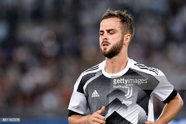 Miralem Pjanic of Juventus during the Italian Supercup Final match between Juventus and Lazio at Stadio Olimpico Rome Italy on 13 August 2017